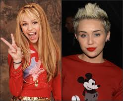 Miley then and now