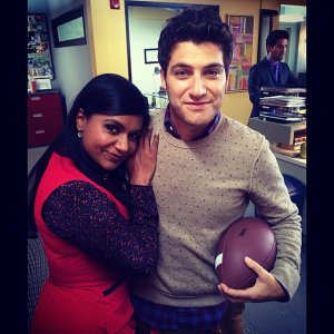 That's how I would hug him, too. Adam Pally is wonderful.