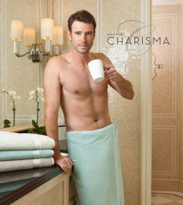 Don't get me wrong! He still looks good drinking coffee in a towel!