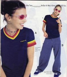 I literally remember this page in my catalog. I wanted the shirt, the necklace, and the trendy pajama pants. And probably the sunglasses.
